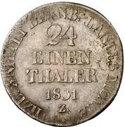 1/24 Thaler - Alexius Friedrich Christian – reverse