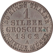 1 Silbergroschen - Alexander Carl (Joint Coinage) – reverse