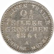 2½ Silbergroschen - Alexander Carl (Joint Coinage) – reverse