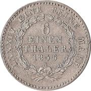 ⅙ Thaler - Alexander Carl – reverse