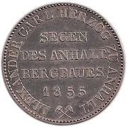 1 Thaler - Alexander Carl (Ausbeute) – reverse