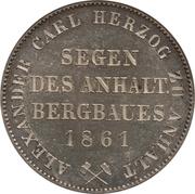 1 Vereinsthaler - Alexander Carl -  reverse