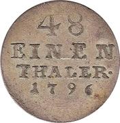 1/48 Thaler - Friedrich Albrecht – reverse