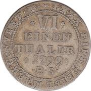 ⅙ Thaler - Alexius Friedrich Christian – reverse