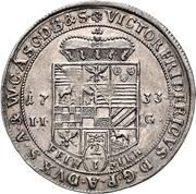 ⅔ Thaler - Viktor II Friedrich – obverse