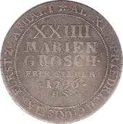 24 Mariengroschen - Alexius Friedrich Christian – reverse