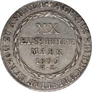 ⅔ Thaler - Alexius Friedrich Christian – reverse