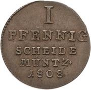1 Pfennig - Alexius Friedrich Christian – reverse