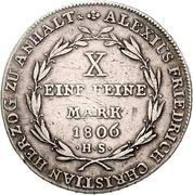 1 Conventionsthaler - Alexius Friedrich Christian – reverse
