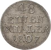 1/48 Thaler - Alexius Friedrich Christian – reverse
