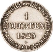 1 Ducat - Alexius Friedrich Christian (Silver Pattern Strike; Ausbeute-Harzgold-Dukat) – reverse