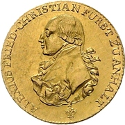5 Thaler - Alexius Friedrich Christian – obverse