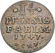 1½ Pfennig - Viktor Friedrich – reverse