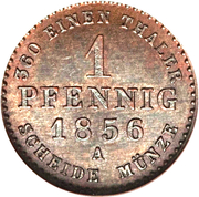 1 Pfennig - Alexander Carl – reverse