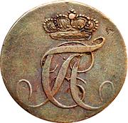 1 Pfennig - Alexius Friedrich Christian -  obverse