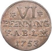 6 Pfenning - Viktor Friedrich – reverse