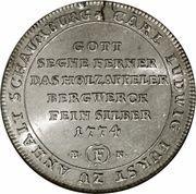 1 Ausbeutethaler - Karl Ludwig – reverse