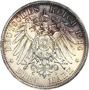 3 Mark - Friedrich II (Silver Wedding) – reverse