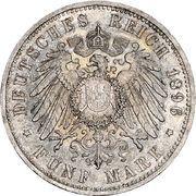 5 Mark - Friedrich I. (Silver Jubilee) – reverse