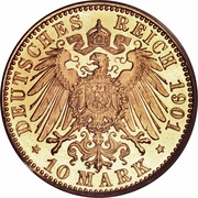 10 Mark - Friedrich I. – reverse