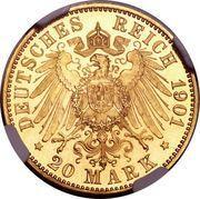 20 Mark - Friedrich I – reverse