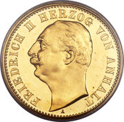 20 Mark - Friedrich II. – obverse