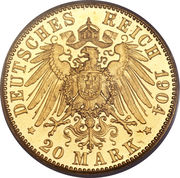 20 Mark - Friedrich II. – reverse