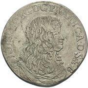 ⅔ Thaler - Johann Georg II – obverse