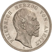 2 Mark - Friedrich I. (Silver jubilee) – obverse