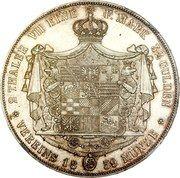 2 Thaler / 3½ Gulden - Leopold Friedrich – reverse