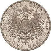 2 Mark - Friedrich I (Silver jubilee) – reverse