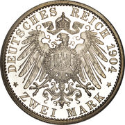 2 Mark - Friedrich II. – reverse