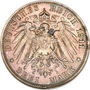 3 Mark - Friedrich II. – reverse
