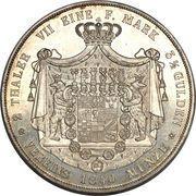 2 Thaler / 3½ Gulden - Heinrich -  reverse