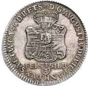 ⅓ Thaler - August Ludwig -  obverse