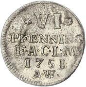 6 Pfennig - August Ludwig – reverse