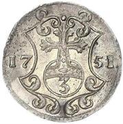 3 Pfennig - August Ludwig – reverse