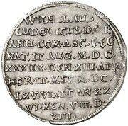 ⅛ Thaler - Wilhelm Ludwig (Death) – reverse