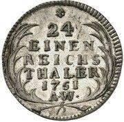 1/24 Thaler - August Ludwig – reverse