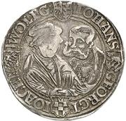 1 Ausbeutethaler - Wolfgang, Johann IV., Georg III. and Joachim I. (Harzgerode) – obverse