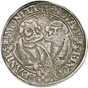 1 Ausbeutethaler - Wolfgang, Johann IV., Georg III. and Joachim I. (Harzgerode) -  reverse