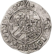 1 Groschen - Johann Georg I, Christian I, August, Rudolf and Ludwig – obverse