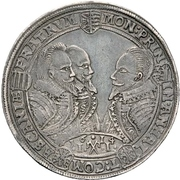 1 Thaler - Johann Georg I, Christian I., August, Rudolf and Ludwig – obverse