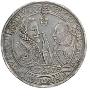 1 Thaler - Johann Georg I, Christian I., August, Rudolf and Ludwig – reverse
