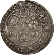 12 Kreuzer Christian I., August, Rudolf and Ludwig (Kipper) – reverse