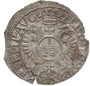 24 Kreuzer Christian I., August, Rudolf and Ludwig (Kipper) – reverse