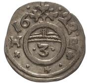 1 Dreier - Christian I., August, Ludwig, Johann Casimir, Georg Aribert and Johann (Kipper) – reverse