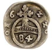 1 Dreier - Christian I., Augustus, Ludwig, Johann Casimir, Georg Aribert and Johann (Kipper – reverse