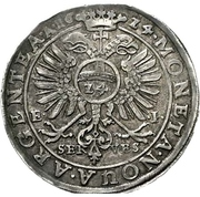 1 Thaler - Christian I., August, Ludwig, Johann Casimir and Georg Aribert – reverse