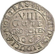 8 Gute Groschen - Johann Georg II., Victor Amadeus, Wilhelm, Carl Wilhelm and Emanuel Lebrecht – reverse